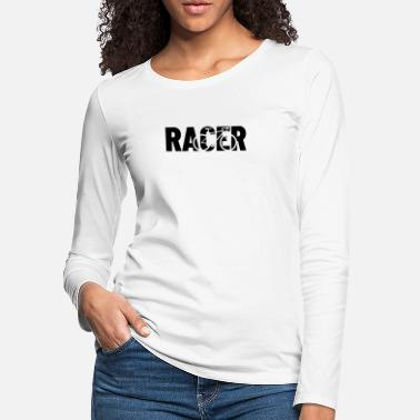 Bike Racer racer with shape of a racer bike - Women's Premium Longsleeve Shirt
