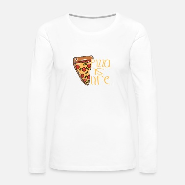 Pizza Pizza food cheese - Women's Premium Long Sleeve T-Shirt