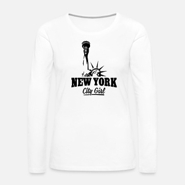 Big Apple NEW YORK CITY GIRL - Women's Premium Long Sleeve T-Shirt