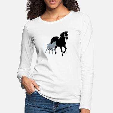 Mare mare with foal - Women's Premium Longsleeve Shirt