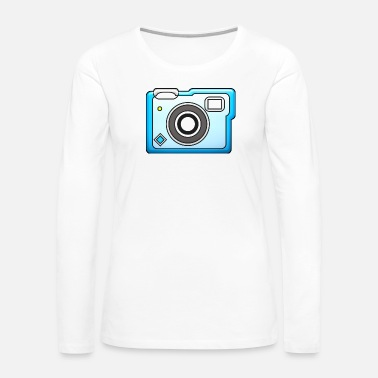 Polaroid camera vintage polaroid movie camera photography - Women's Premium Long Sleeve T-Shirt