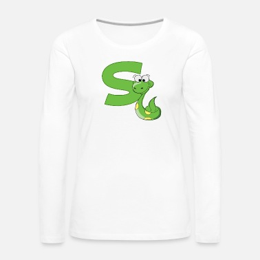 Snake S Is For Snake - Women's Premium Long Sleeve T-Shirt