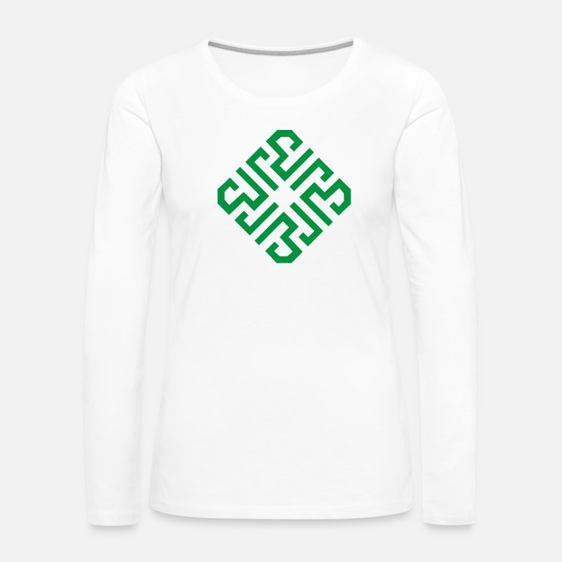 Symbol  Long sleeve shirts - Al-ikhlas - Women's Premium Longsleeve Shirt white