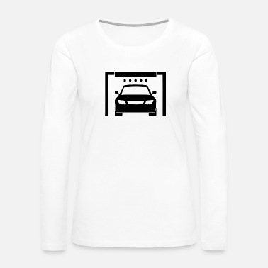 With Full Force Wash cars with modern tools - Women's Premium Long Sleeve T-Shirt