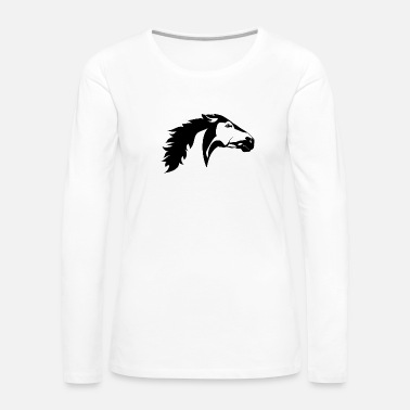 Headbanger Black and white animals vector tattoo animals head - Women's Premium Long Sleeve T-Shirt