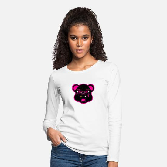 Sneakers Long-Sleeve Shirts - Solehouette BLK/Pink Bear - Women's Premium Longsleeve Shirt white