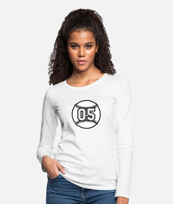 Ball Long-Sleeved Shirts - 05 Baseball Raster 3_color TAS - Women's Premium Longsleeve Shirt white