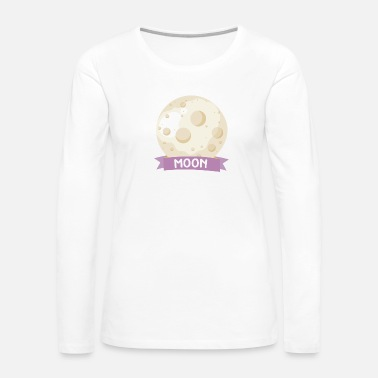 Rectangle Planet Moon Space gift - Women's Premium Long Sleeve T-Shirt
