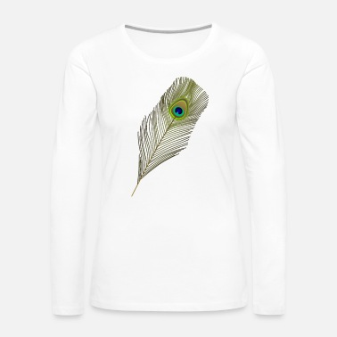 Peacock peacock feather - Women's Premium Long Sleeve T-Shirt