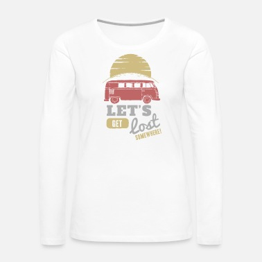 Coffee Bean Lets get lost - Women's Premium Long Sleeve T-Shirt