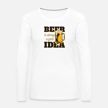 Beer Men like beer - Women's Premium Long Sleeve T-Shirt
