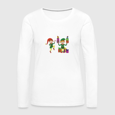 Grinch Funny Cool Cute Christmas Elf Elves Xmas Gifts - Women's Premium Long Sleeve T-Shirt