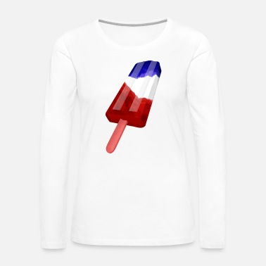 Red White And Blue Popsicle Red White and Blue - Women's Premium Long Sleeve T-Shirt