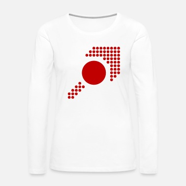 Arrow Pattern - Form - Shape - Circle - red - 3 - Women's Premium Long Sleeve T-Shirt