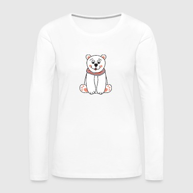 Penguin Cute Funny Cool Polar bear Winter - Women's Premium Long Sleeve T-Shirt