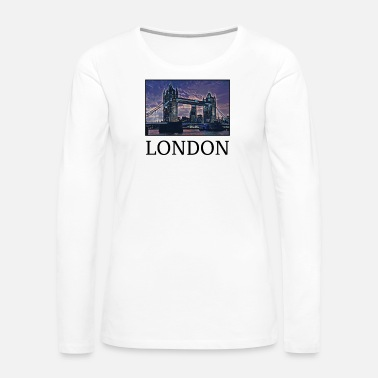 Uk London Holidays Vacation City Souvenir - Women's Premium Long Sleeve T-Shirt