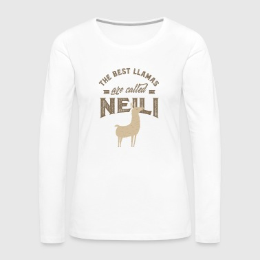 Daughter THE BEST LLAMAS ARE CALLED NEILI - Women's Premium Long Sleeve T-Shirt