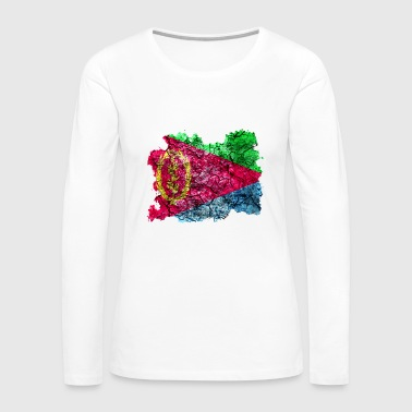 Eritrea Vintage Flag - Women's Premium Long Sleeve T-Shirt