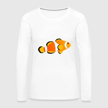 clownfish clownfisch animals tiere aquarium - Women's Premium Long Sleeve T-Shirt