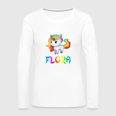Flora Unicorn - Women's Premium Long Sleeve T-Shirt