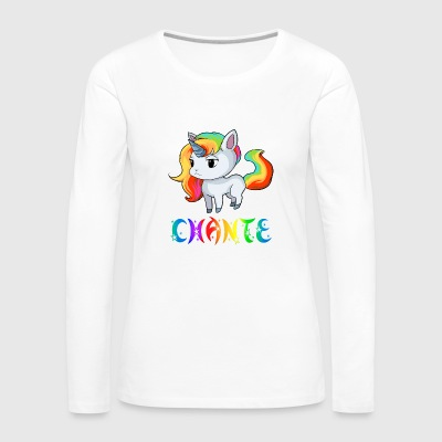 Chante Unicorn - Women's Premium Long Sleeve T-Shirt