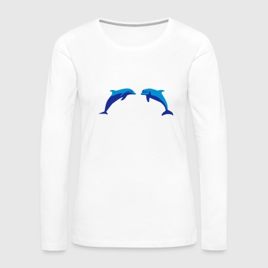 Dolphins, Dolphin - Women's Premium Long Sleeve T-Shirt