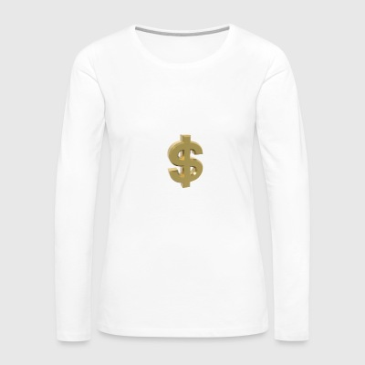 Currency, dollar - Women's Premium Long Sleeve T-Shirt