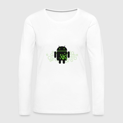 Android Hex Code - Women's Premium Long Sleeve T-Shirt