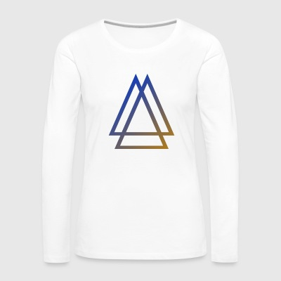 GRADIENT SYMBOL - Women's Premium Long Sleeve T-Shirt