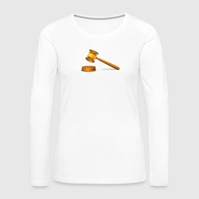 Gavel hammer - Women's Premium Long Sleeve T-Shirt