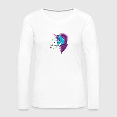 Cute Unicorn Horse - Women's Premium Long Sleeve T-Shirt