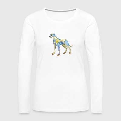 Greyhound Dog Side Mosaic - Women's Premium Long Sleeve T-Shirt