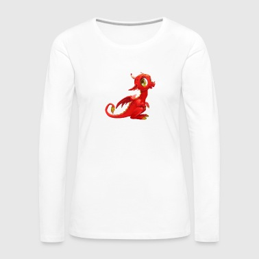 Little fairy red dragon horns - Women's Premium Long Sleeve T-Shirt