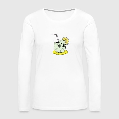 Skull cocktail - Women's Premium Long Sleeve T-Shirt