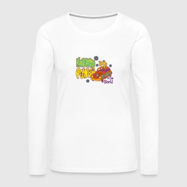 FLOWERS POWER trip - Women's Premium Long Sleeve T-Shirt