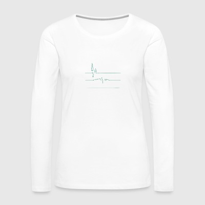 Earth s Heart Monitor - Women's Premium Long Sleeve T-Shirt