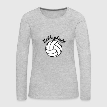 Volleyball Design - Women's Premium Long Sleeve T-Shirt