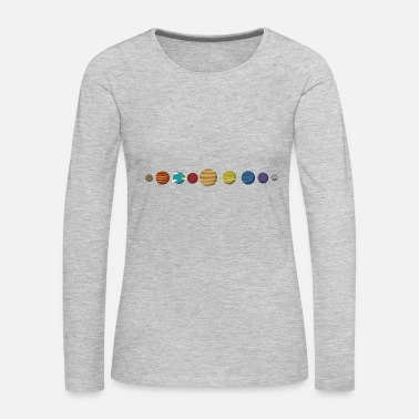 Planet Planets - Women's Premium Long Sleeve T-Shirt
