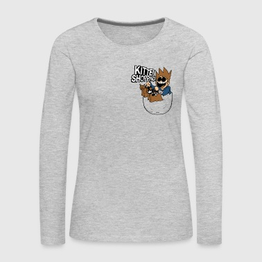 Eddsworld Kitten Shopping Pocket - Women's Premium Long Sleeve T-Shirt