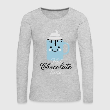 i heart hot chocolate winter holiday food t-shirts - Women's Premium Long Sleeve T-Shirt