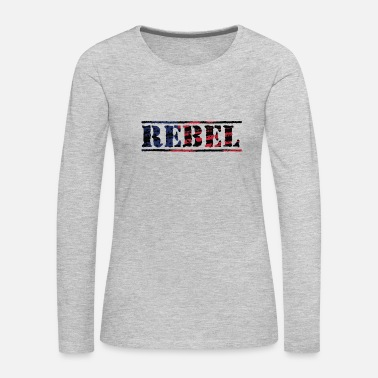 Rebel Flag Rebel Distorted Flag - Women's Premium Long Sleeve T-Shirt