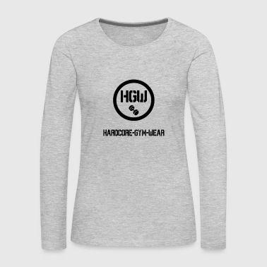 HARDCORE GYM WEAR Logo - Women's Premium Long Sleeve T-Shirt