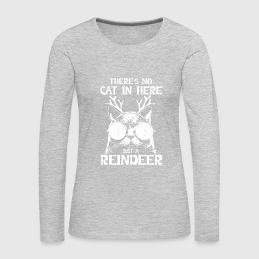 Reindeer Cat Reindeer Gift Fun - Women's Premium Long Sleeve T-Shirt