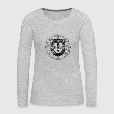 Vintage Portugal Black - Women's Premium Long Sleeve T-Shirt