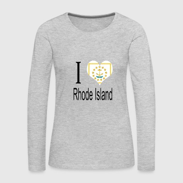 Symbols & Shapes I Love Rhode Island Heart Country USA gift flag - Women's Premium Long Sleeve T-Shirt