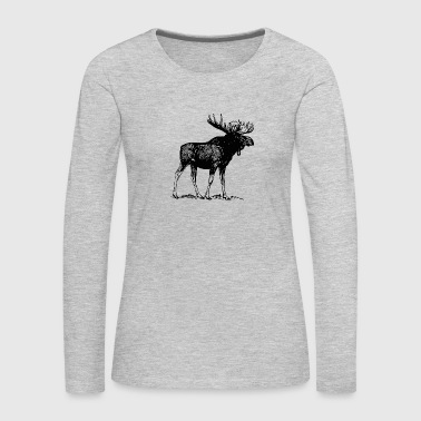 Moose Animals Moose - Women's Premium Long Sleeve T-Shirt