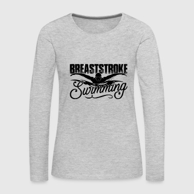 Breaststroke Swimming Shirt - Women's Premium Long Sleeve T-Shirt