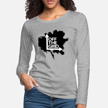 Grid OFF THE GRID Grunge Vector - Women's Premium Longsleeve Shirt
