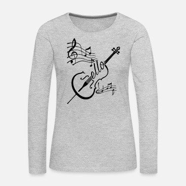 Cello Play Cello Shirt - Women's Premium Long Sleeve T-Shirt