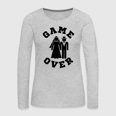 Video Game Over Tees Funny Wedding Video Gamer Groom - Women's Premium Long Sleeve T-Shirt